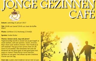 Flyer Jonge gezinnen café 21 jan 2017